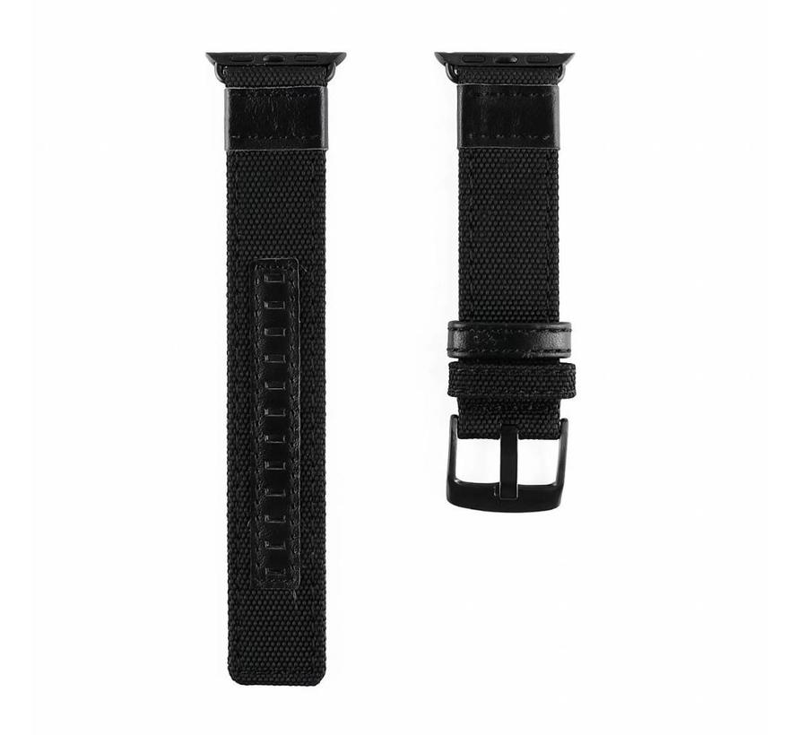 42mm Apple Watch zwart nylon military bandje