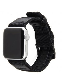 123Watches.nl Apple watch nylon military band - black