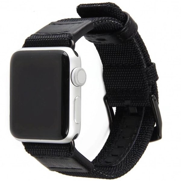123Watches Apple watch nylon military band - black