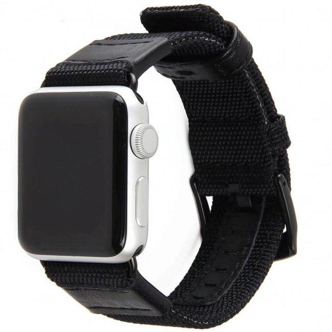 123Watches Apple watch nylon military band - zwart