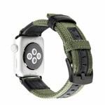 123Watches.nl Apple watch nylon military band - groen