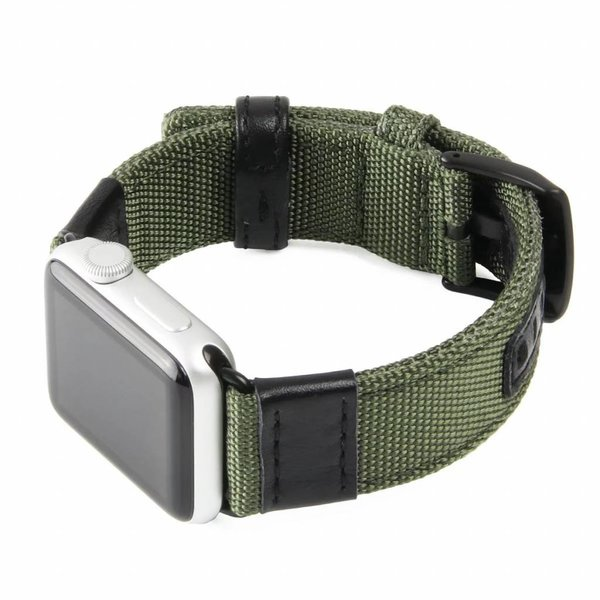123Watches Apple watch nylon military band - groen