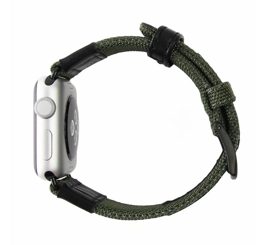 42mm Apple Watch groen nylon military bandje