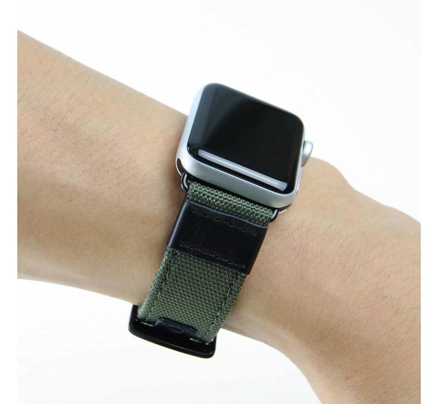 Apple watch nylon military band - groen