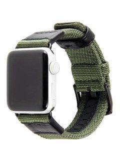 123Watches.nl 42mm Apple Watch groen nylon military bandje