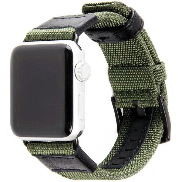 123Watches Apple Watch bande militaire en nylon - vert