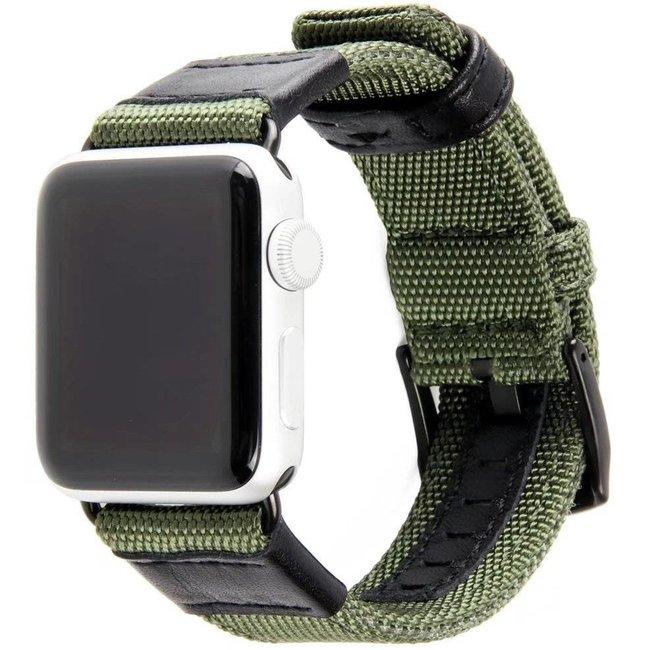 Apple watch nylon military band - green