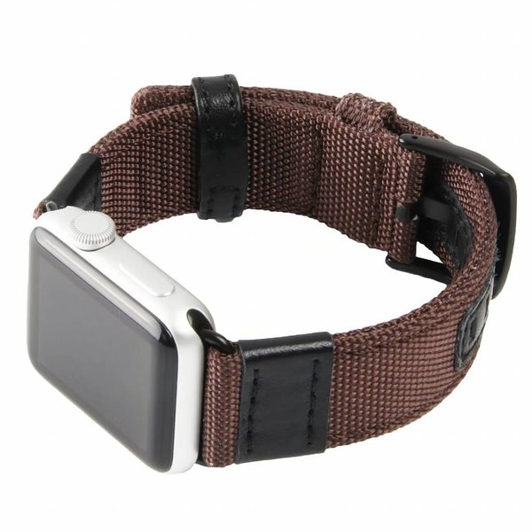 123Watches Apple watch nylon military band - brown