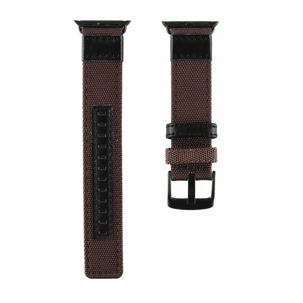 123Watches Apple watch nylon military band - bruin