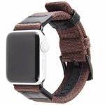 123Watches Apple Watch bande militaire en nylon - marron