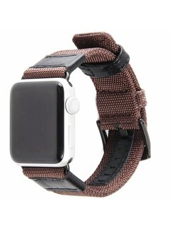 123Watches.nl Apple watch nylon military band - bruin
