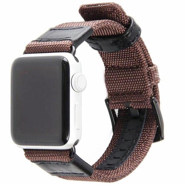 Merk 123watches Apple watch nylon military band - brown