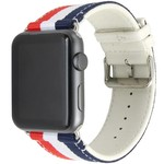 123Watches Apple watch nylon double face band - rood wit blauw