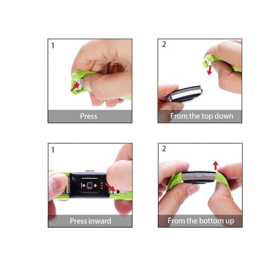 Fitbit Charge 2 groen sport bandje