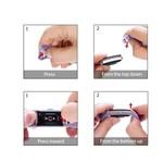 123Watches Fitbit charge 2 bracelet sportif  - violet clair