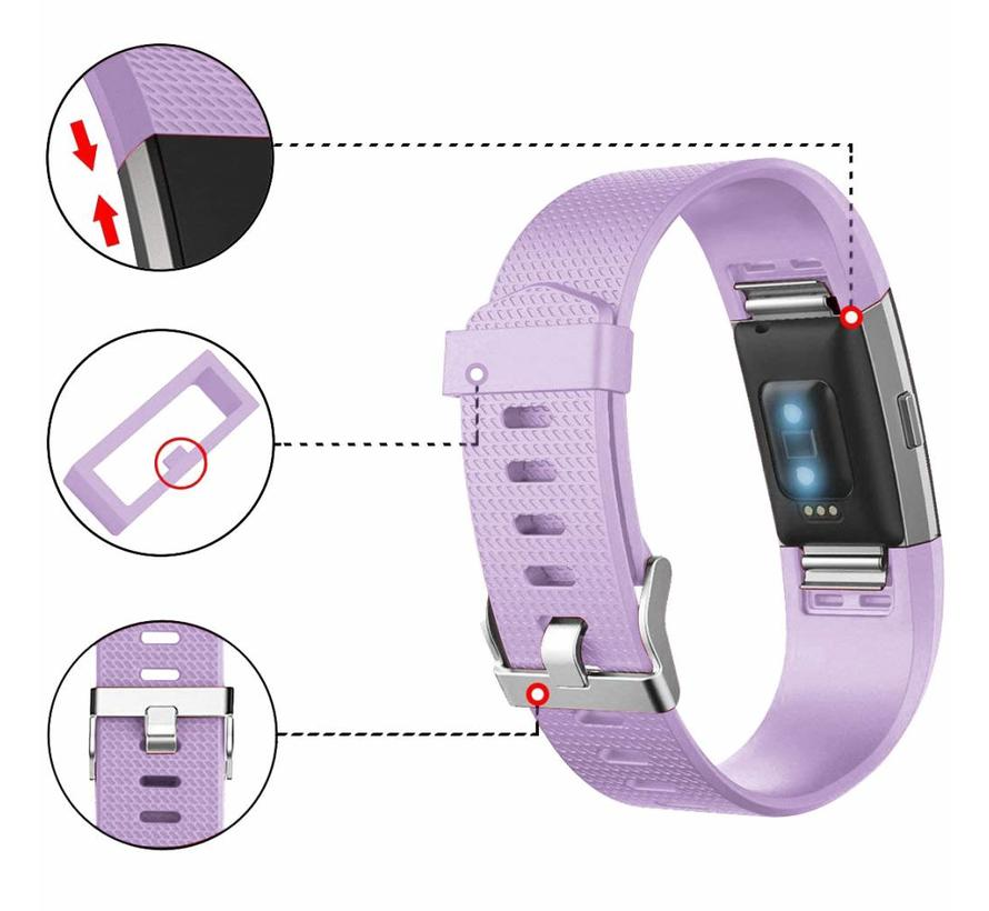 Fitbit charge 2 sport band - lichtpaars