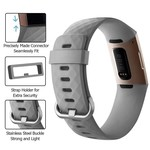 123Watches.nl Fitbit charge 3 sport wafel band - grijs