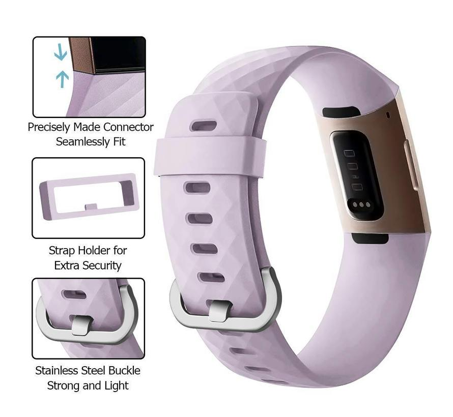 Fitbit charge 3 sport wafel band - lavendel