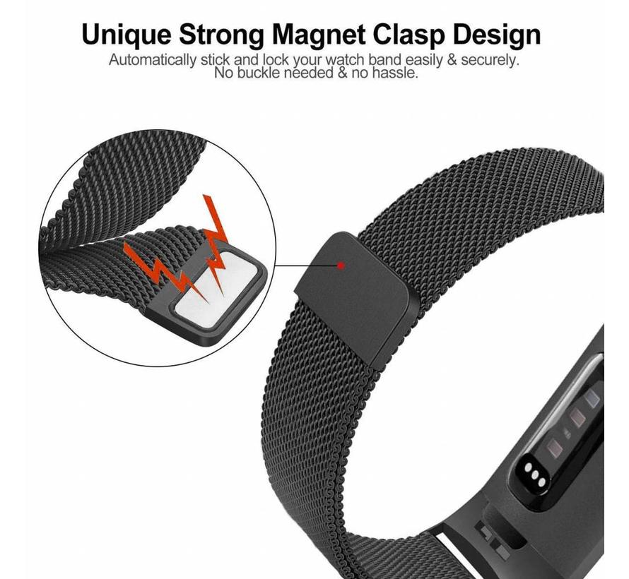 Fitbit charge 3 milanese band - zwart