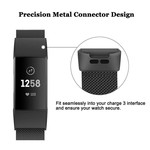 123Watches Fitbit charge 3 & 4 milanese band - black