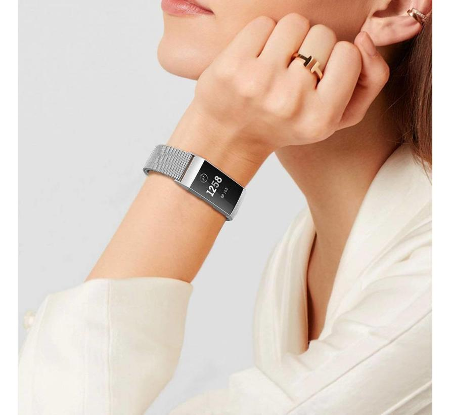 Fitbit charge 3 milanese band - zilver
