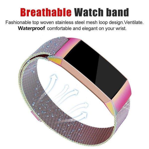 123Watches Fitbit charge 3 & 4 milanais band - coloré