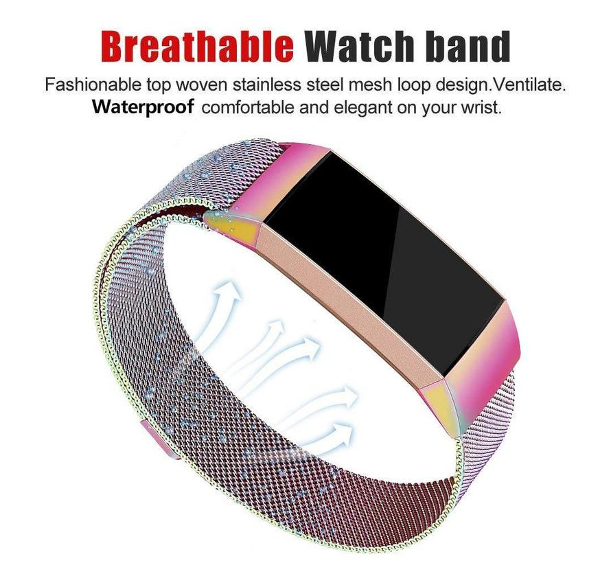 Fitbit charge 3 milanese band - bunt