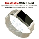 123Watches.nl Fitbit charge 3 milanese band - retro goud