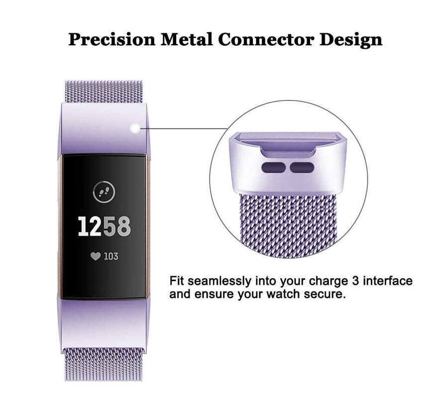 Fitbit charge 3 milanese band - lavendel