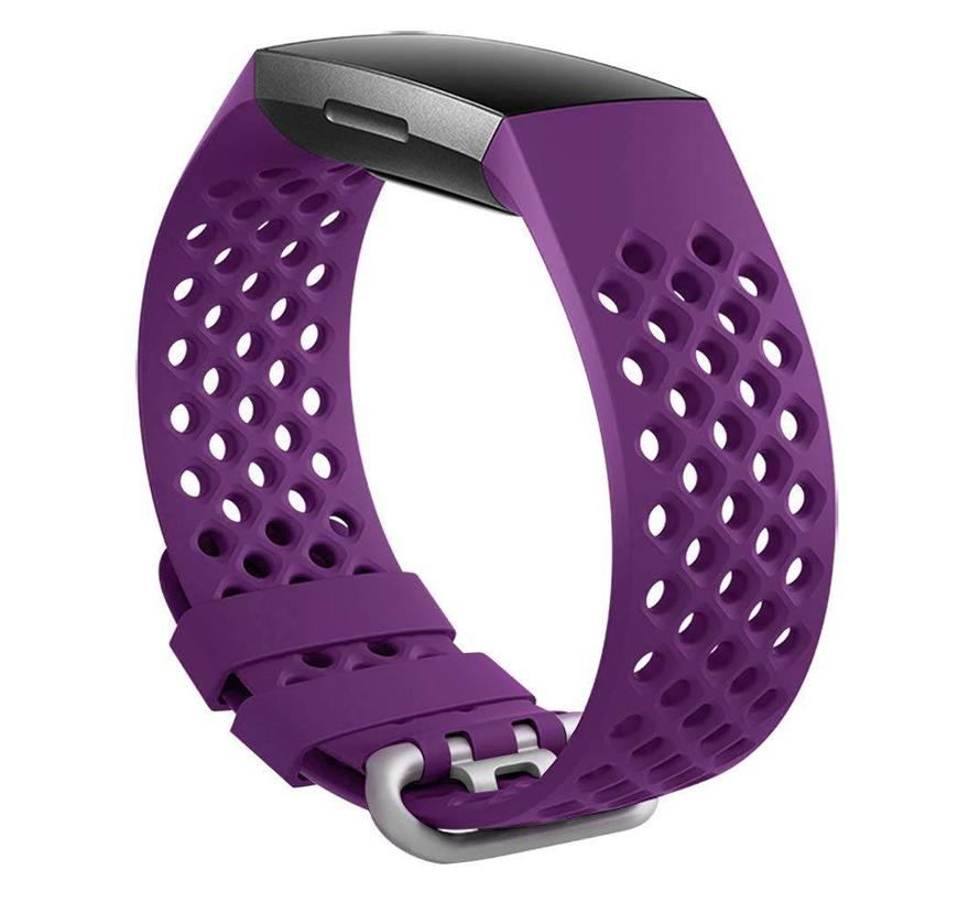Fitbit charge 3 sport point band - donkerpaars