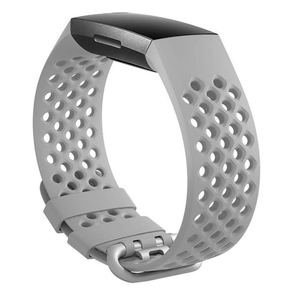 123Watches Fitbit charge 3 & 4 sport point band - gray