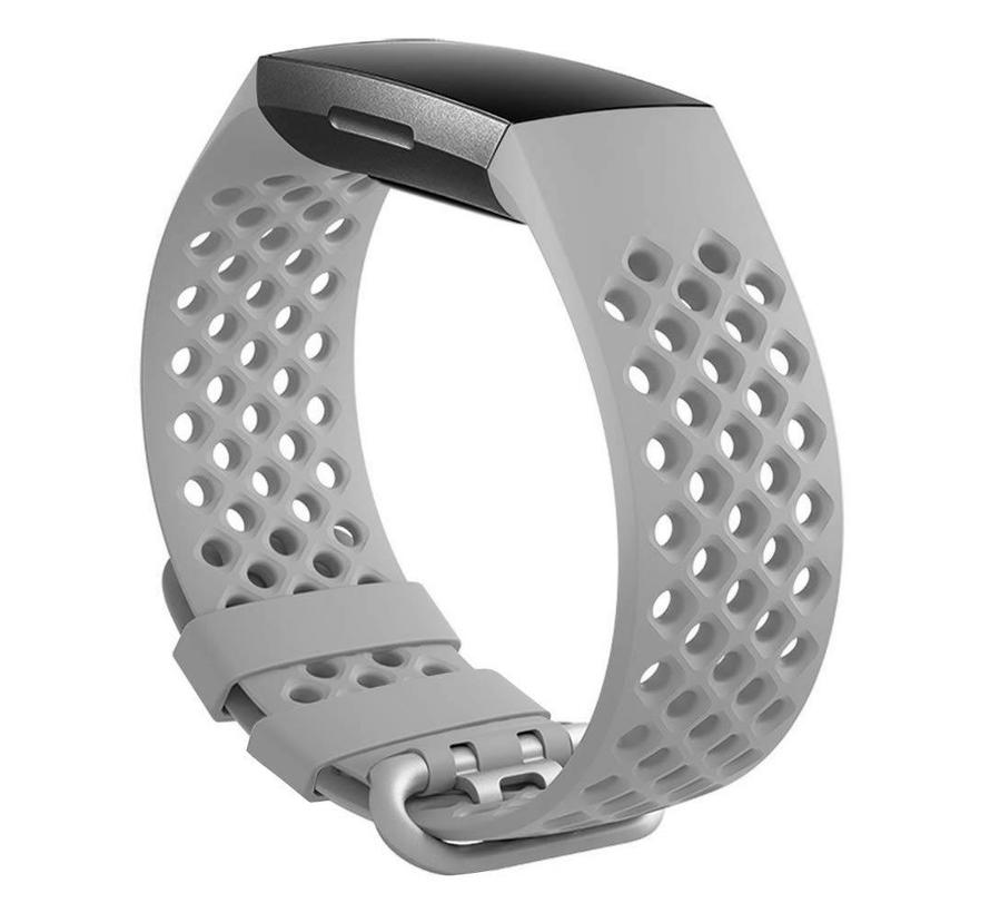 Fitbit charge 3 sport point band - grau