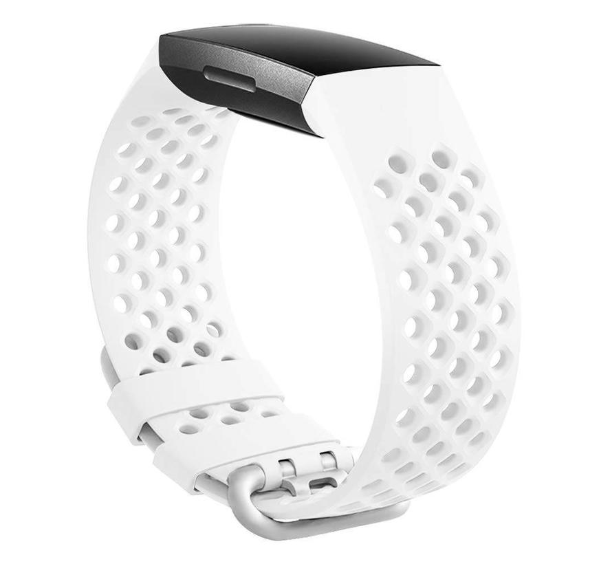 Fitbit charge 3 sport point band - wit