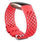 123Watches Fitbit charge 3 & 4 bande de points de sport - rouge