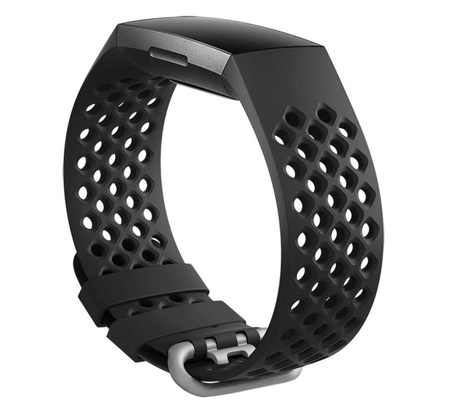 Fitbit charge 3 sport point band - zwart