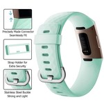 123Watches Fitbit charge 3 & 4 sport wafel band - groen
