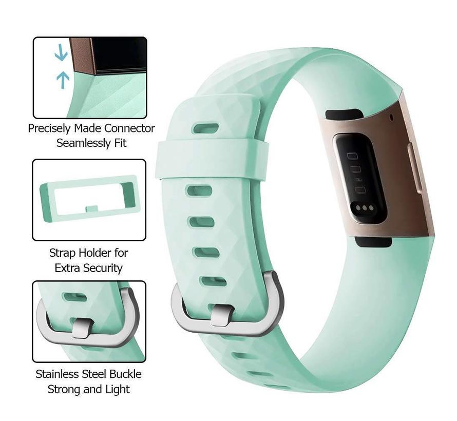 Fitbit charge 3 sport wafel band - groen