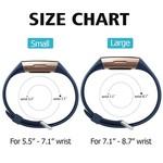 123Watches Fitbit charge 3 & 4 bande de gaufres sport - bleu foncé