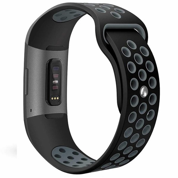 123Watches Fitbit charge 3 & 4 bracelet sportif  - noir gris