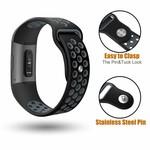 123Watches Fitbit charge 3 & 4 sport band - zwart grijs