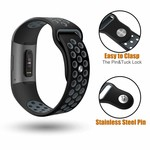 123Watches.nl Fitbit Charge 3 sport band - schwarz grau