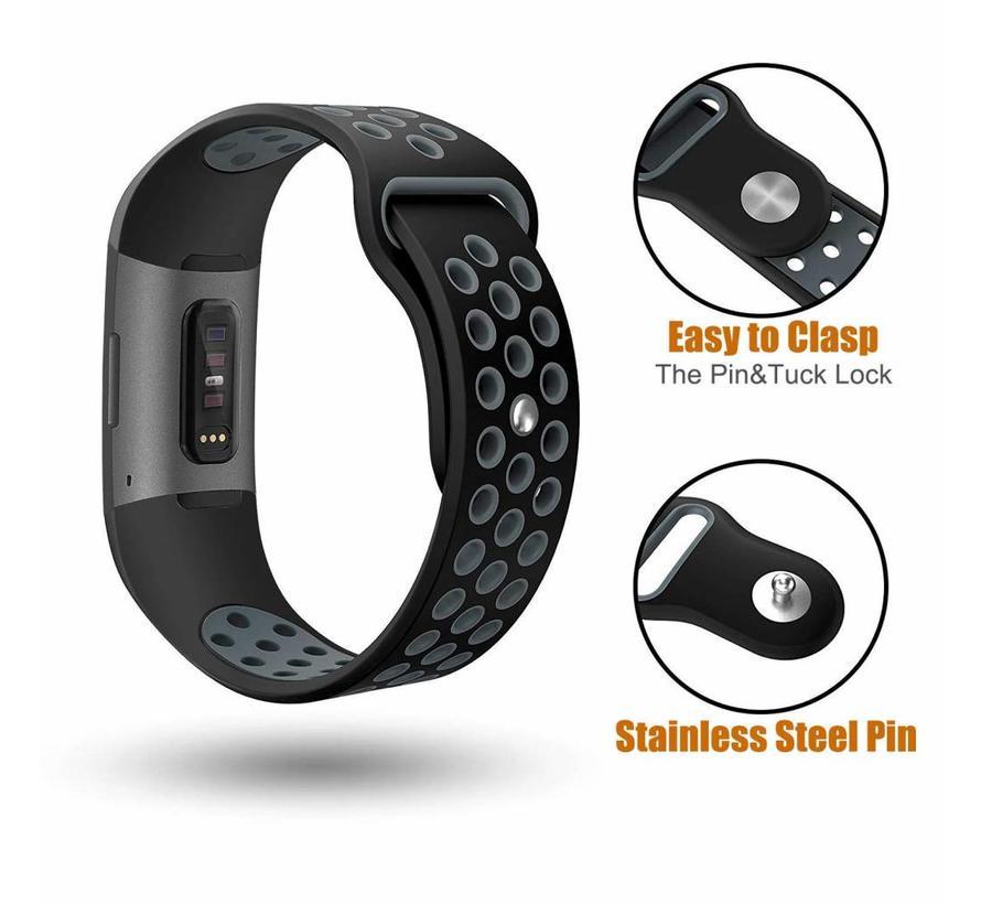 Fitbit charge 3 sport band - zwart grijs