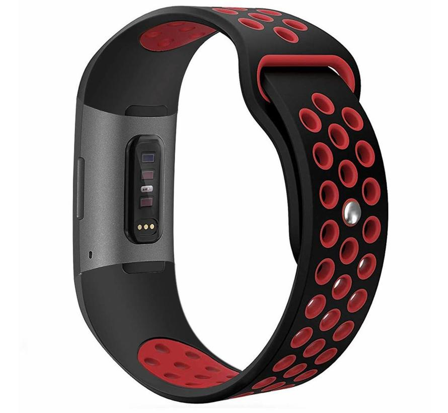 Fitbit Charge 3 sport band - schwarz rot