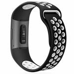 123Watches Fitbit charge 3 & 4 bracelet sportif  - noir blanc