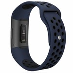123Watches Fitbit charge 3 & 4 sport band - donkerblauw zwart