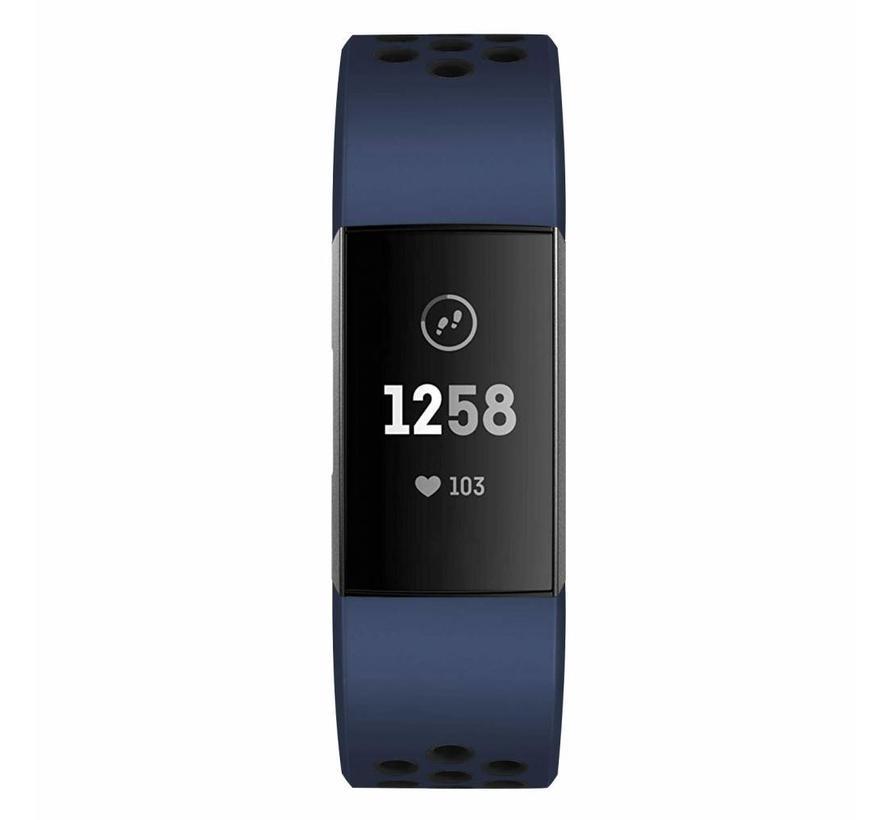 Fitbit Charge 3 sport band - dunkelblau schwarz