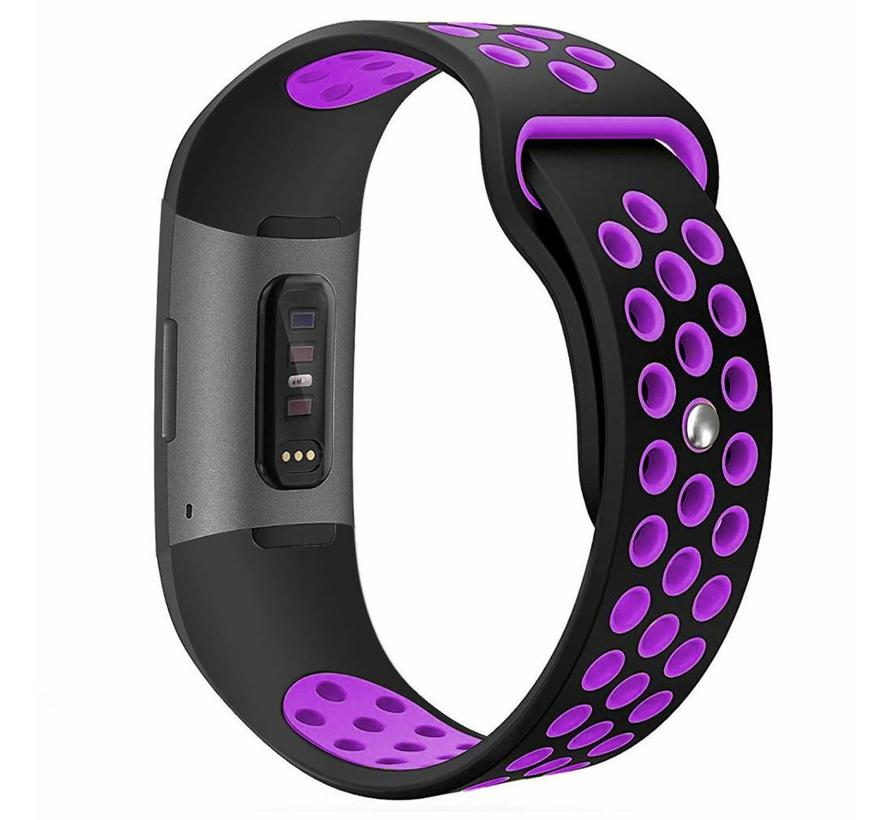 Fitbit charge 3 sport band - zwart paars
