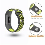 123Watches Fitbit charge 3 & 4 sport band - gray yellow