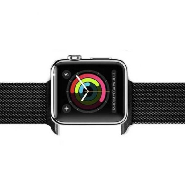 123Watches Apple watch milanese band - black