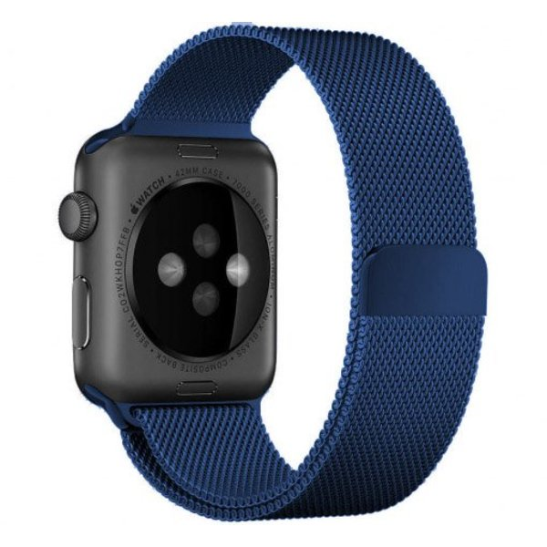 123Watches Apple watch milanese band - bleu